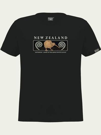 Kiwi and Fern Embroidered Unisex Tee