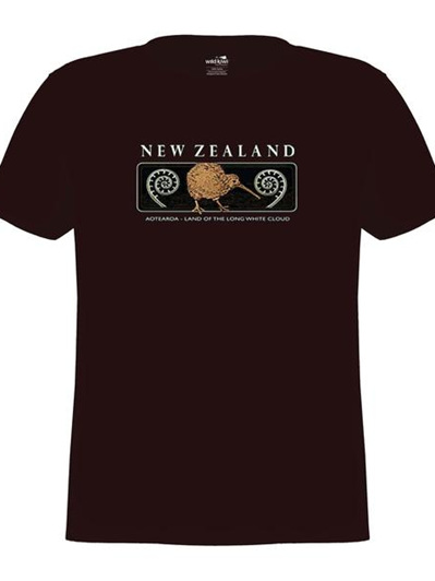 Kiwi and Fern Embroidered Unisex Tee