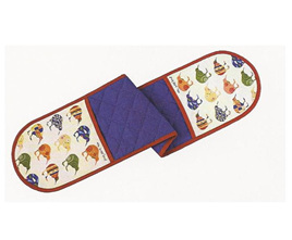 Kiwi Applique Double Oven Mitt