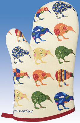 Kiwi Applique Oven Glove