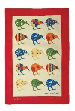 Kiwi Applique Tea Towel