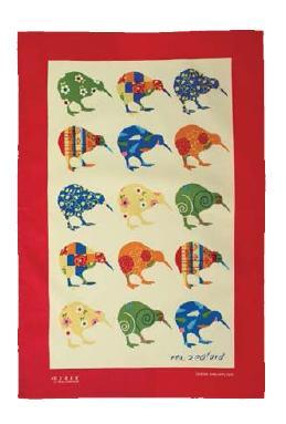 Kiwi Applique Tea Towel
