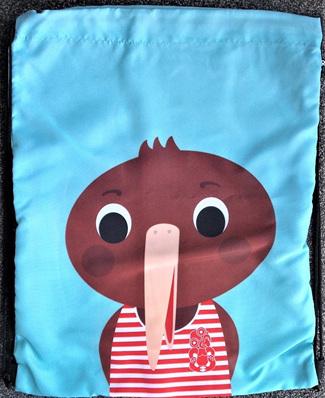 Kiwi Drawstring Bag - Blue