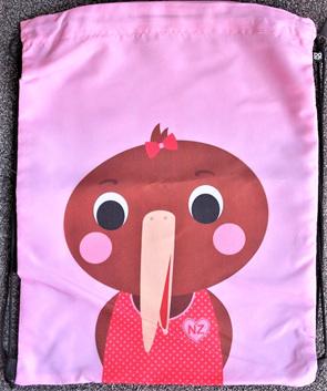 Kiwi Drawstring Bag - Pink
