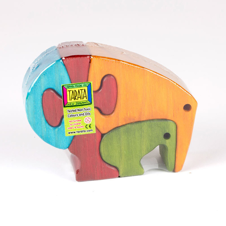 Kiwi puzzle coloured