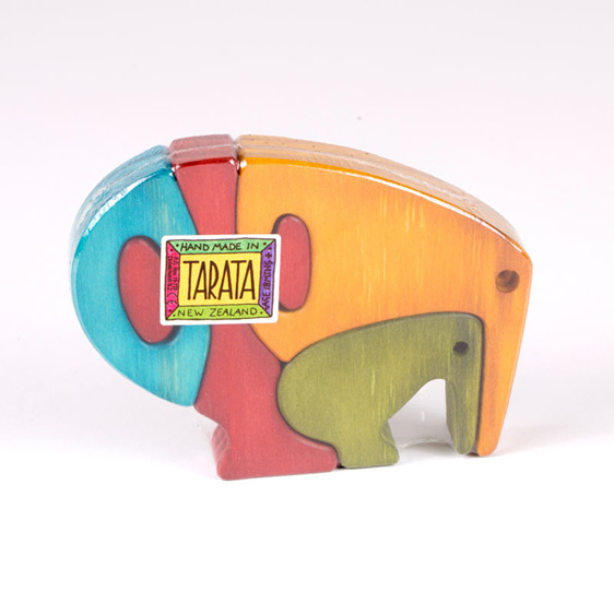 Kiwi puzzle coloured thin