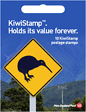Kiwi stamps booklet of 10