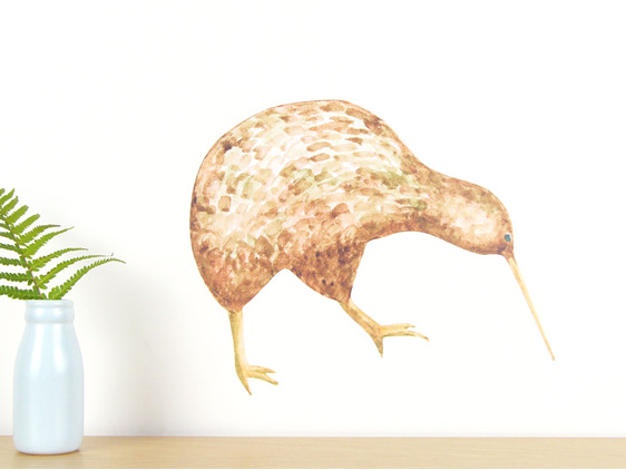 Kiwi wall decal -medium