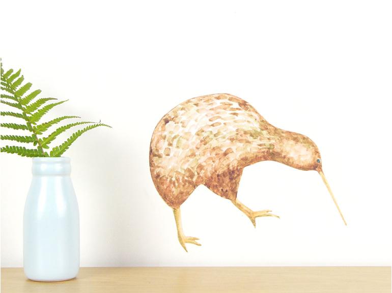 Kiwi wall decal - small