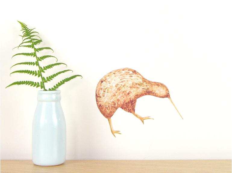 Kiwi wall decal - tiny