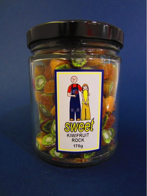 kiwifruit rock candy jar