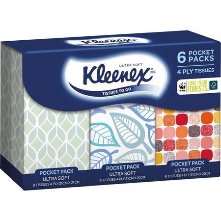 KLEENEX Tissues P/Pk Ultrasoft 6pk