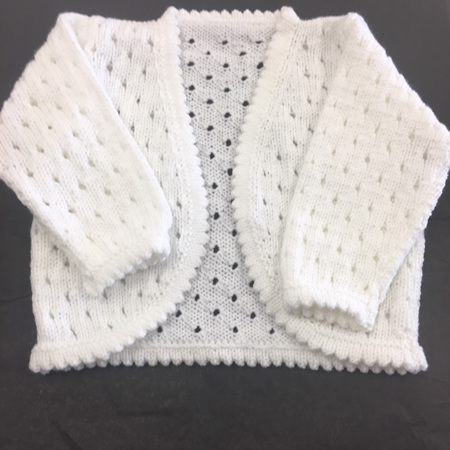 Knitted acrylic cardigan - 3-9 months