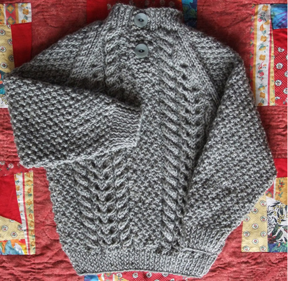 Knitted Cable Jumper - Grey