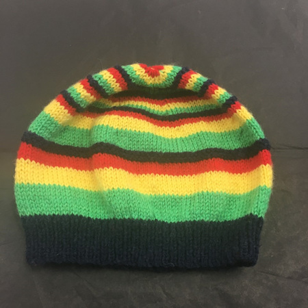 Knitted hat - multi-coloured