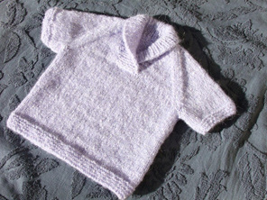 Knitted Light Purple Vest