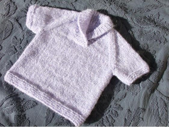 Knitted Light Purple Vest