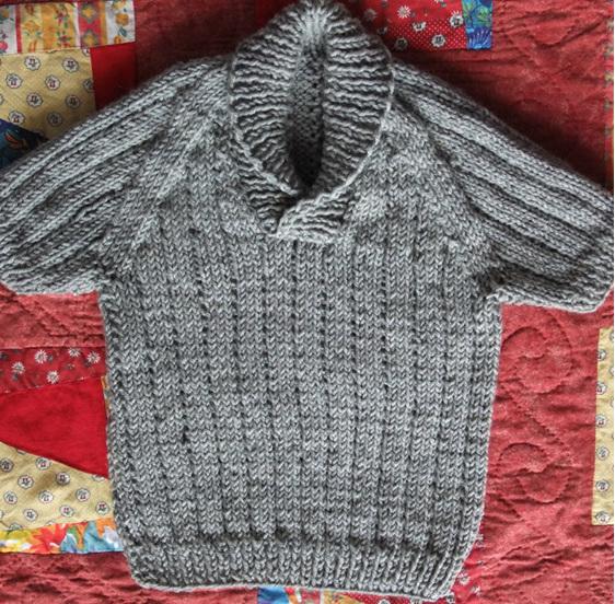 Knitted Short Sleeve Vest