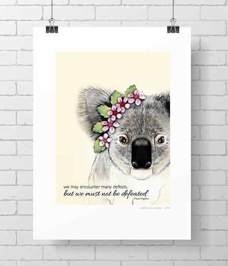 Koala limited edition wildfire print