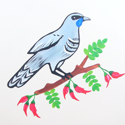 Kokako wall decal