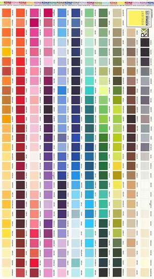 Kona Cotton Colour Chart Panel