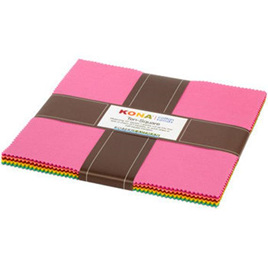 "Kona Cotton Library Coordinates 10"" Squares 42 pcs"