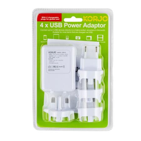 KORJO WORLDWIDE USB ADAPTOR 4 PORT