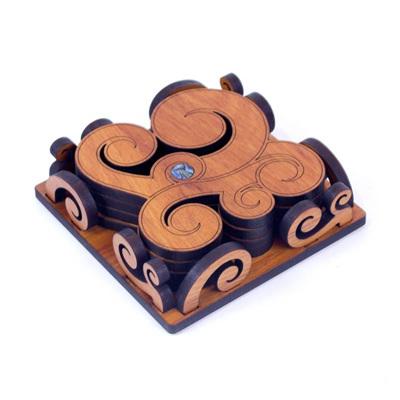 Koru Coasters in Caddy