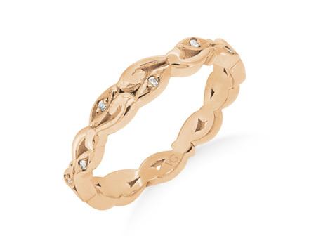 Koru Design Pattern Wedding Ring