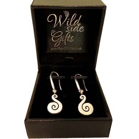 Koru drop earrings small