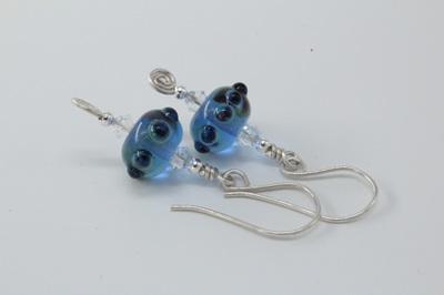 Koru earrings - Blue