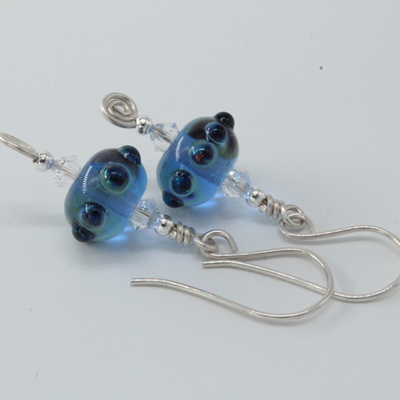 Koru earrings - Blue