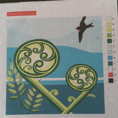 Koru fern canvas only