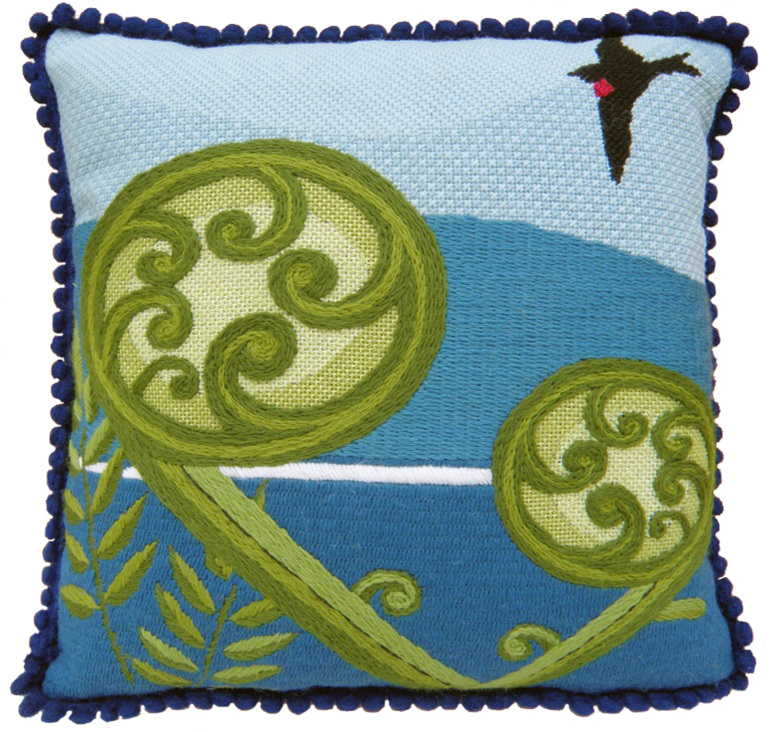 koru fern needlepoint kit nz birds tapestry kit