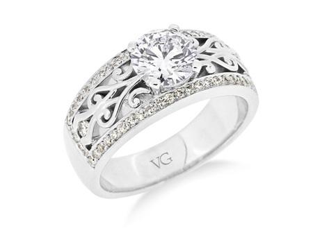 Koru Pattern Diamond Ring
