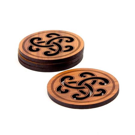 Koru Rose Coasters