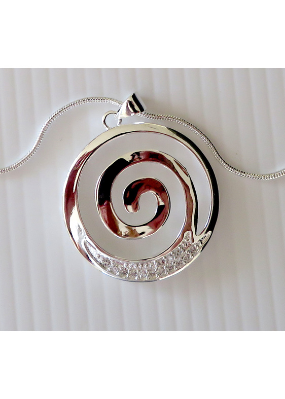 Koru silver plated pendant X28