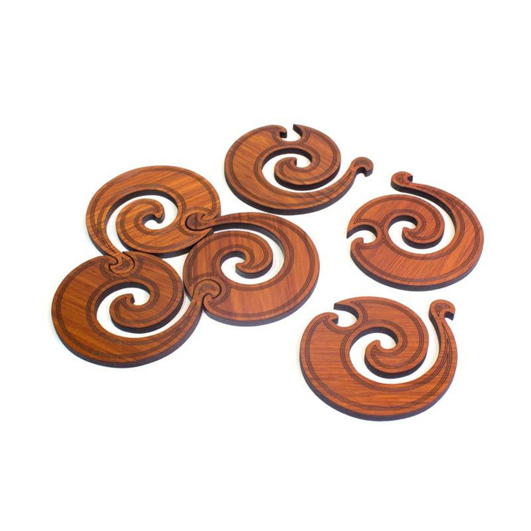koru trivet coasters