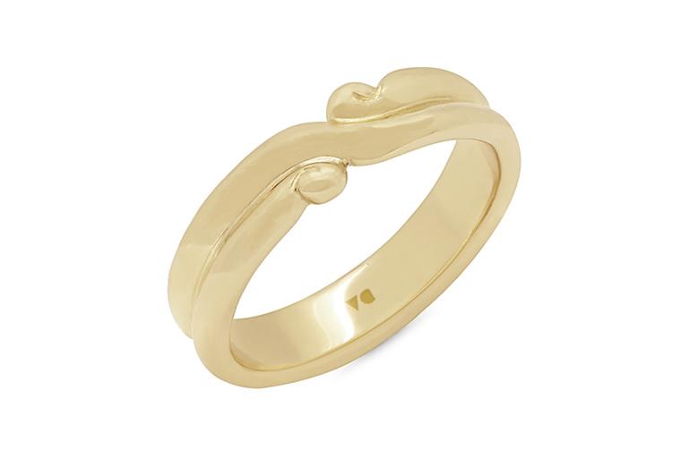 Kotahi Duo - Narrative Collection, Mens 18ct Yellow Gold Wedding Ring