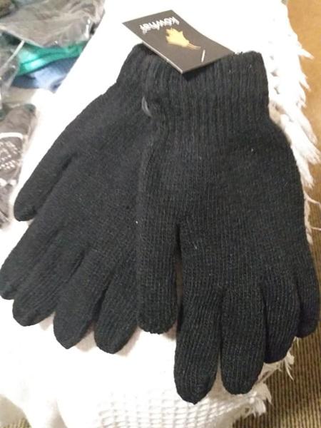 Kowhai Black Adult Gloves