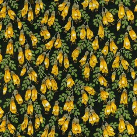 Kowhai Blossoms yellow black