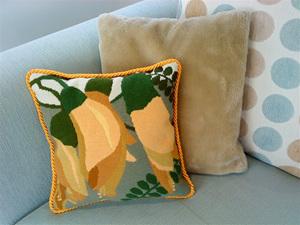 Kowhai cushion