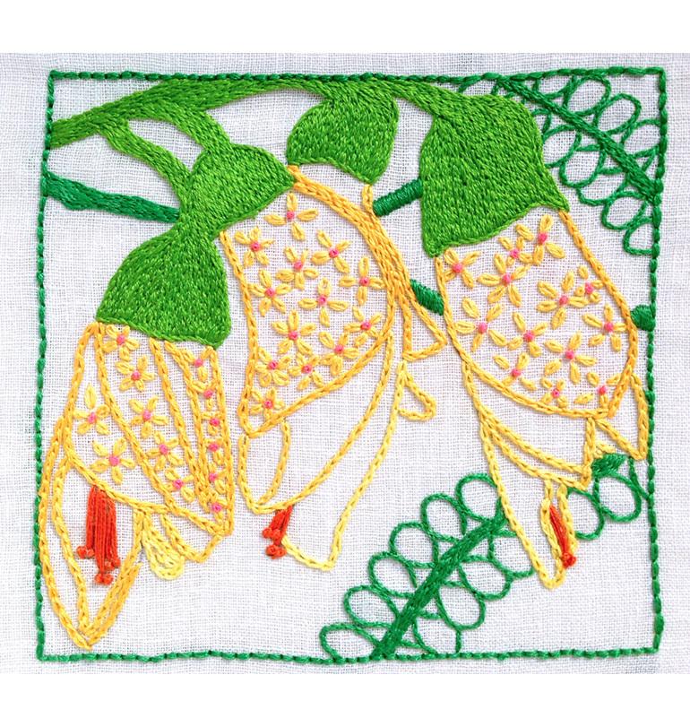 kowhai embroidery