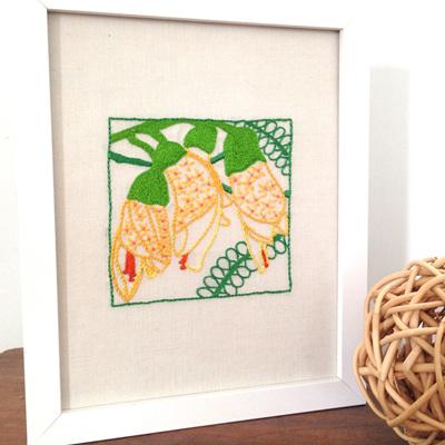 kowhai embroidery kit