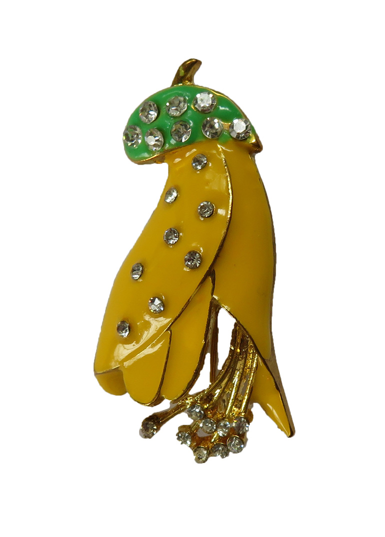 Kowhai flower brooch