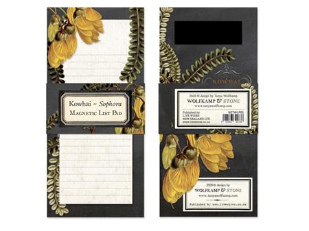 Kowhai Flower Magnetic List Pad