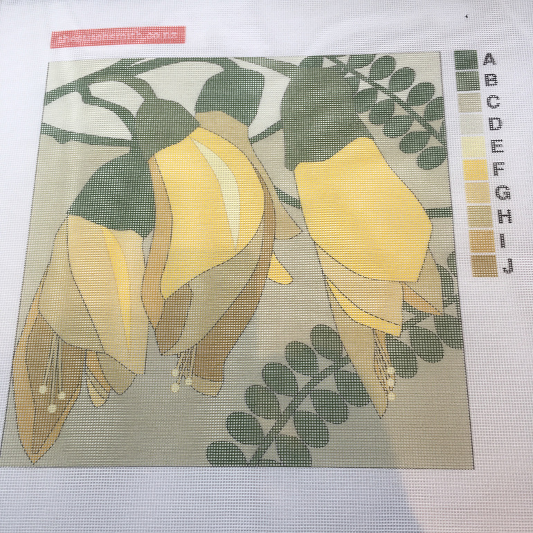 kowhai needlepoint canvas