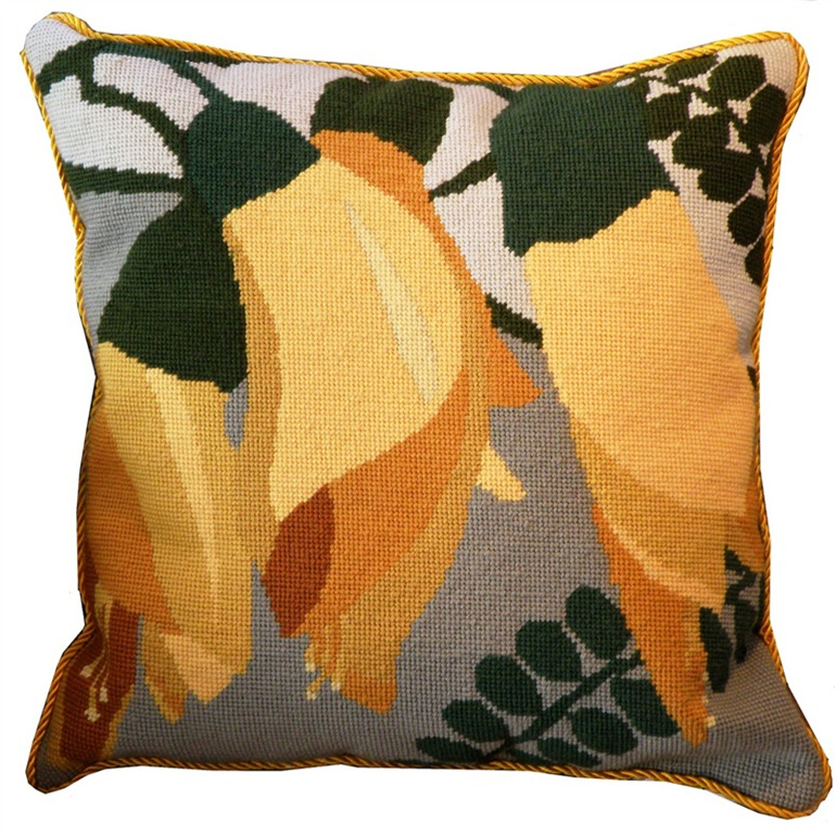 Kowhai needlepoint cushion kit