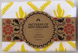Kowhai Tea towel - Ali Davies Design