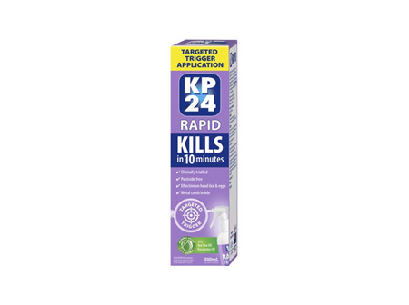 KP24 Rapid 10minutes Targeted Trigger Head Lice Spray 300ml